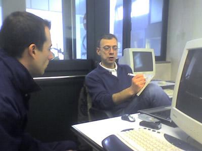 Amedeo Benigno durante un corso